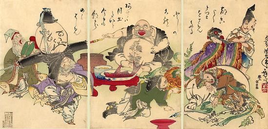 The Seven Lucky Gods, by Tsukioka Yoshitoshi